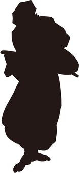 Ukiyo-e character silhouette part 101