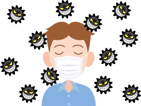 Virus mask Male