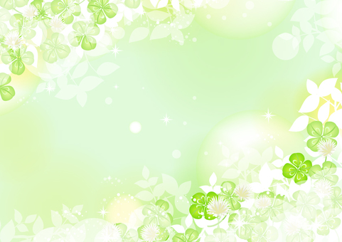 Fresh green clover frame