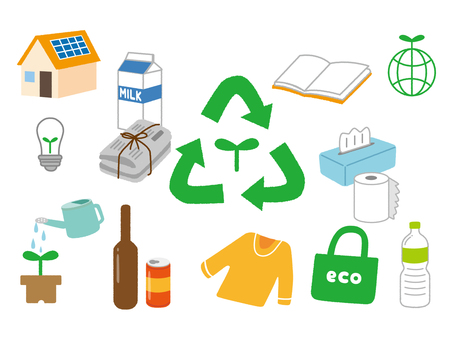 Eco-recycle illustration