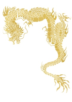 Dragon illustration (gold)