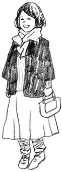 女人穿著外套女人單色