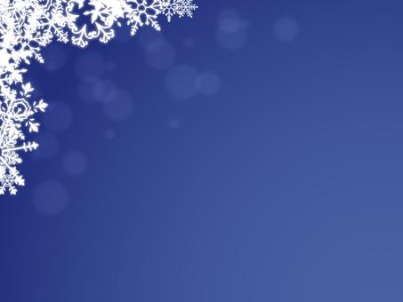 Snow crystal frame