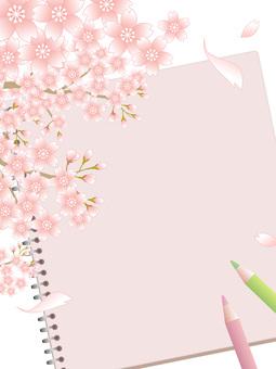 80302.桜とスケッチブック,縦1