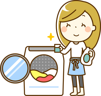 Woman doing the laundry