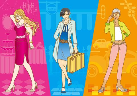 Fashionable female _ 3 pattern