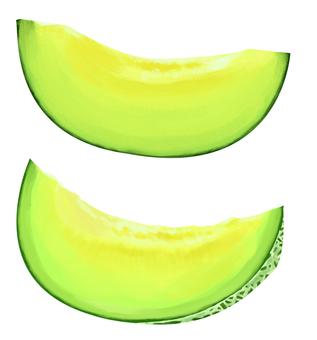 Melon cutting material