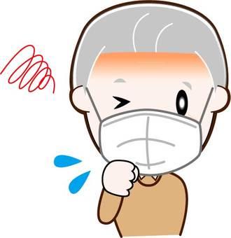 Poor physical condition, senior man, upper body