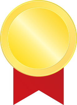 Coin Badge 1 <Red Ribbon>
