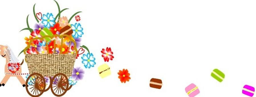 꽃 마차와 마카롱
