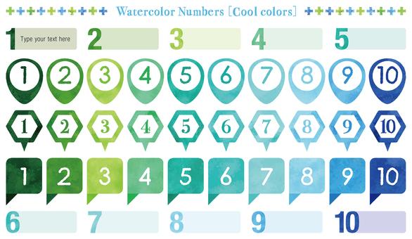 水彩觸摸數字設置:酷