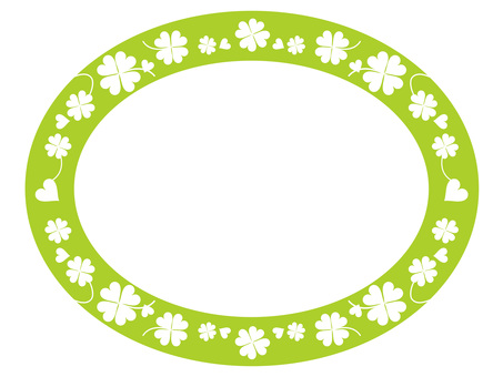 Four Leaf Clover Oval 1-2