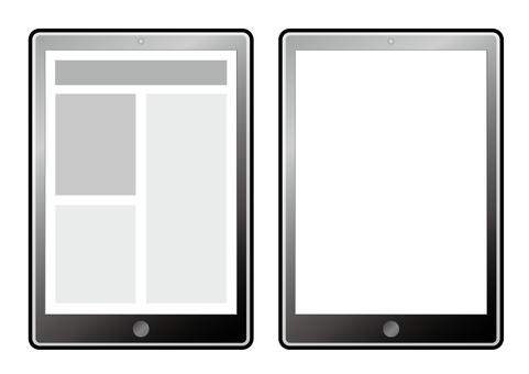 Simple tablet (vector data)