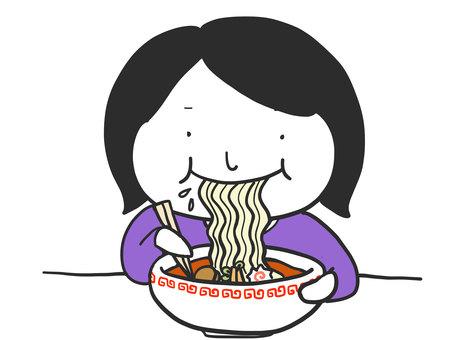 一個人吃拉麵