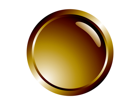 Round _ gold color button plate