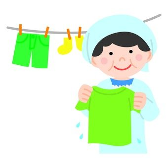 A woman hanging up the laundry