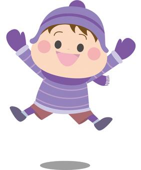 점프하는 소년 겨울 3