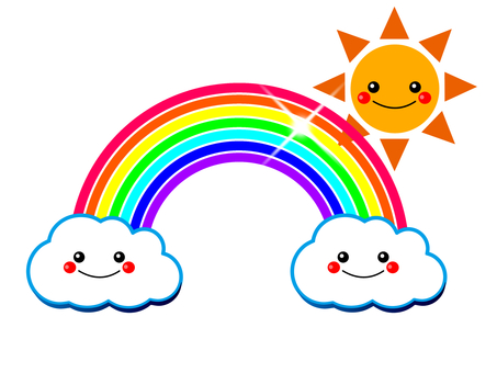 Clouds, rainbows and sun