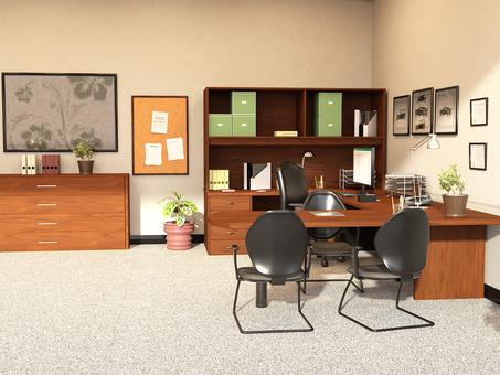 Office room unattended desk 2