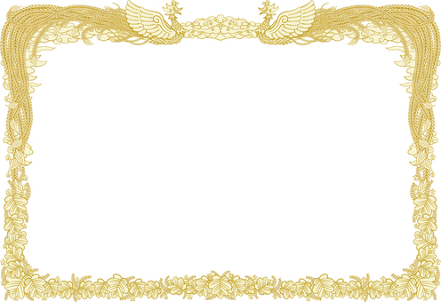 Certificate frame background transparent