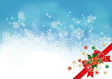 Snow crystal & ribbon 32