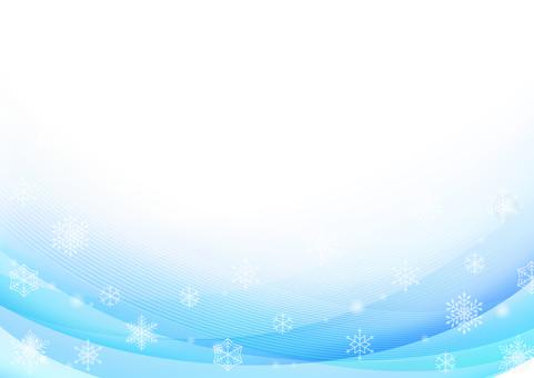 ブルーの雪の結晶の背景
