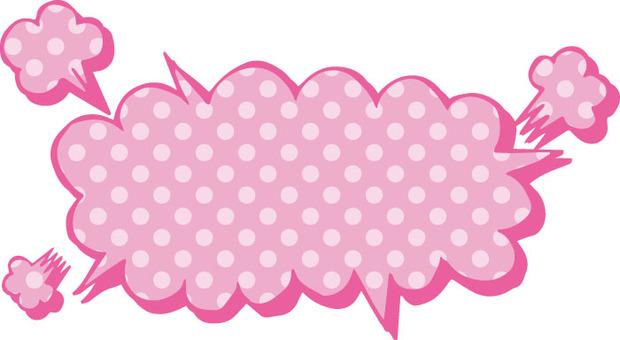 Blowing (explosive bevel · polka dot)