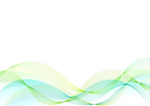 Green wave background (RGB)