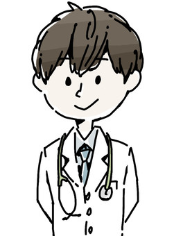 Male doctor upper body