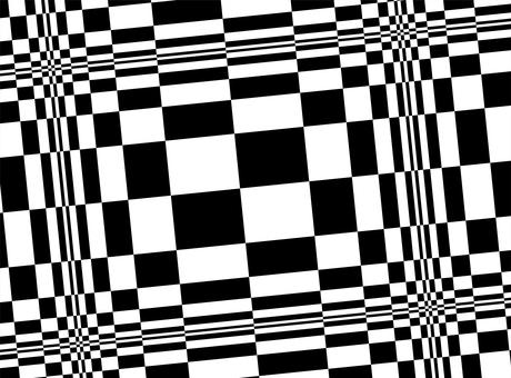 モノトーンの幾何学模様チェック