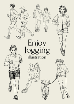 Jogging Illustration