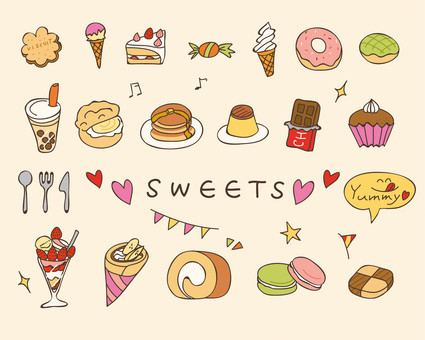 Hand-drawn sweets