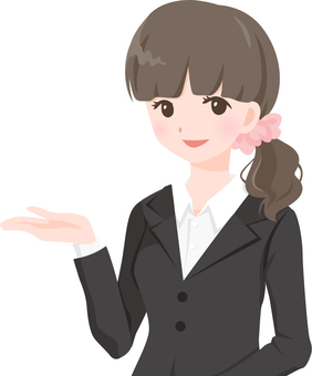 OL in black suit 【mayu】 bu