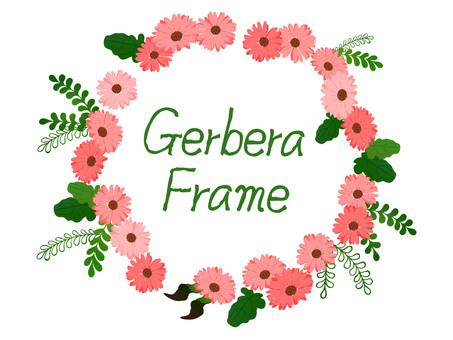 Gerbera frame pink