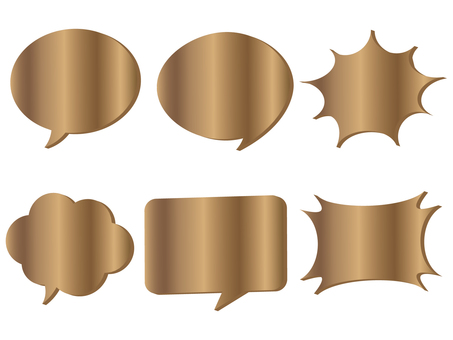 Speech bubbles various 9