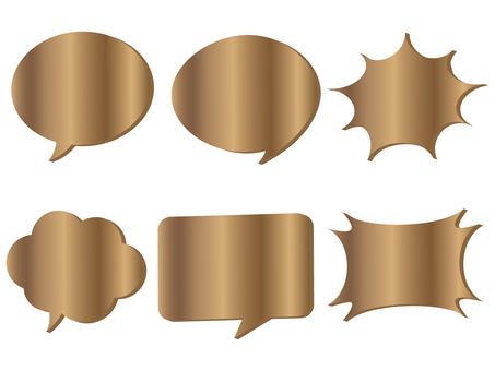 Speech bubbles various 9