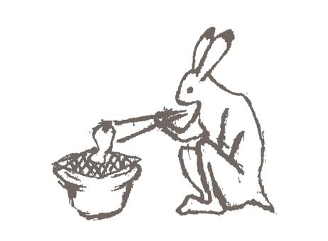 떡 구이 토끼