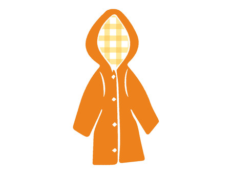 Raincoat orange