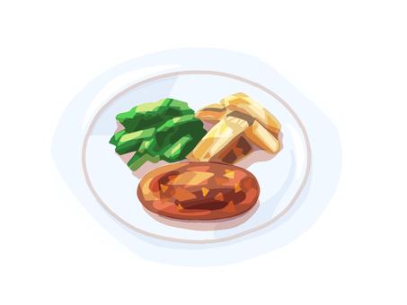 햄버거 양식 가정 요리 반찬 클래식