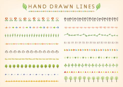 Hand drawn line set