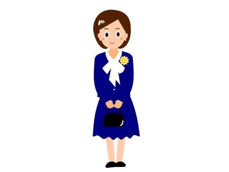 Graduation ceremony / entrance ceremony fashion mother