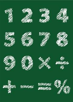 문자 11_06 (숫자 · 칠판)