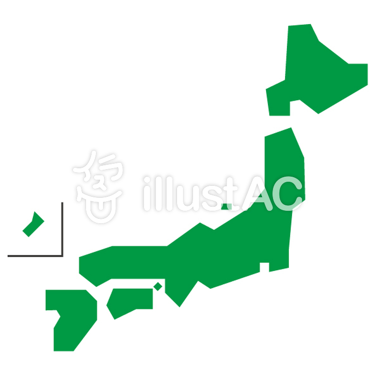日本地図 かわいい Map アイコン イラスト No 1295604無料イラスト