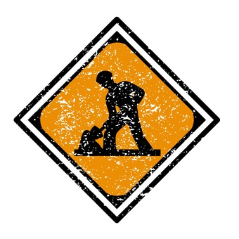 """""""Road under construction"""" sign"""