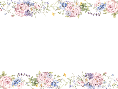 Flower frame 424 Flower frame of gentle colored roses