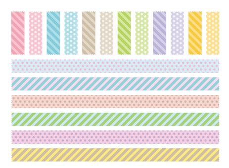 Tape material 1 Zigzag cut pastel