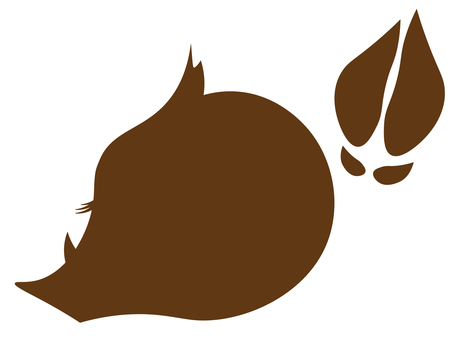 Pig silhouette icon