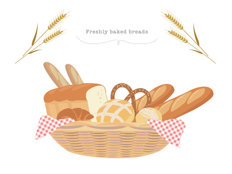 Basket of freshly baked bread