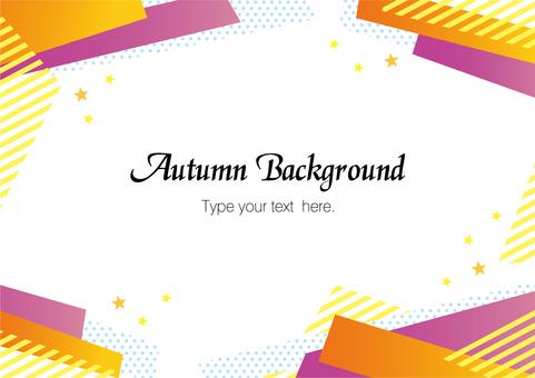 Autumn frame (Halloween color) 03