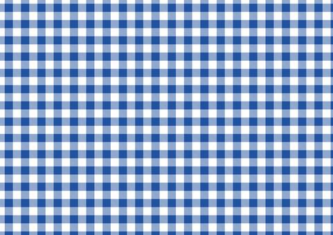Gingham check <blue × white>
